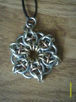 Second chainmail necklace by DracoLumina