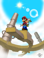 Mario and the Sand Bird by goldwater