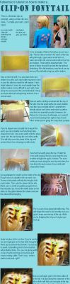 How to Make a Clip-on Ponytail by Katsumiyo