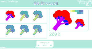 Weekly Challenge 36 - Broccoli by Lanahx3