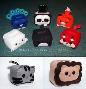 Cellphone plushie holders by ChloeRockChick14