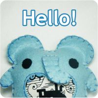 Billie the Blue Elephant by hellohappycrafts