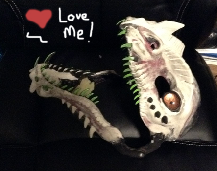 Newest Dragon Mask WIP by Crovv