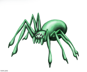 Green Spider by Diiri