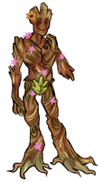 anthropomorphic space tree by pai-draws