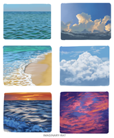 Cloud and water studies by Imaginary-Rat