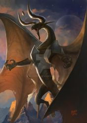 Nicol Bolas by scarypet
