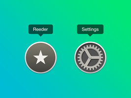 Reeder and Settings icons for OS X Yosemite by pavelbuben