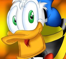 Donald Duck -Duet working- by Lorysdisneyworld