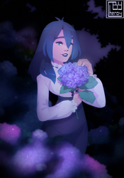 Blue Hydrangeas by Cheroy