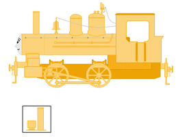 The Golden Steam Engine (Sprite) by pauloddd2005