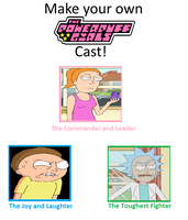Rick and Morty Ppg Cast by TessMcGrath