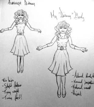 Body Proportions - Disney to Realistic by sabrinacurtis582