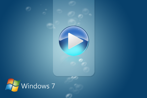 Windows 7 Media Player Blue by AbhishekGhosh