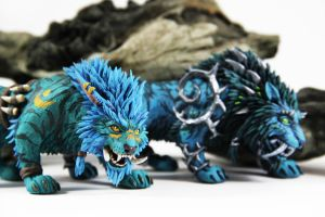 Troll Druid and Incarnation of Nightmare by ColibriWorkshop