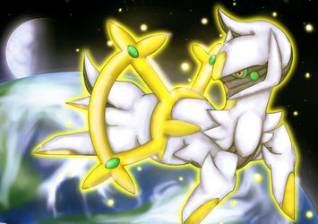 Arceus in space by KotElen