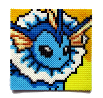 Vaporeon Perler Portrait by Aenea-Jones