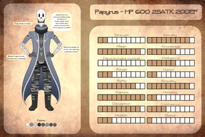 [Reference/MemoTale] Papyrus by BlurryNightSky