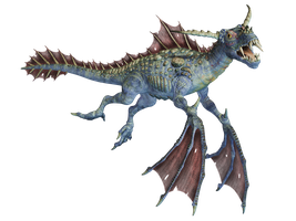Water Dragon 02 PNG Stock by Roy3D