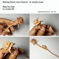 Making basic rose tutorial - video by sculptor101