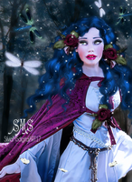 Lady Of The Blue Forrest by SilviaMS