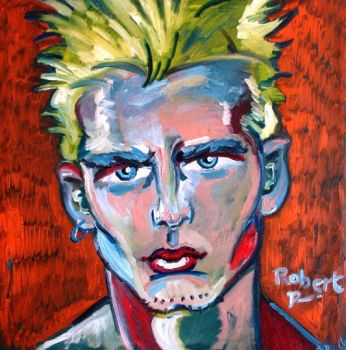 Billy Fire Portrait 2006 by robertrpaintings