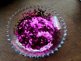 Free Magenta Glitter in a Bowl by MeMiMouse