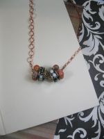 Poppies - Beaded Bobbin Necklace - 2 by DanielleDucrest