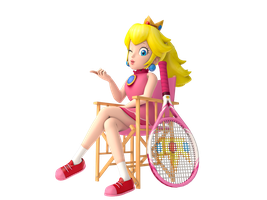 Courtside Peach by SoloBouquet