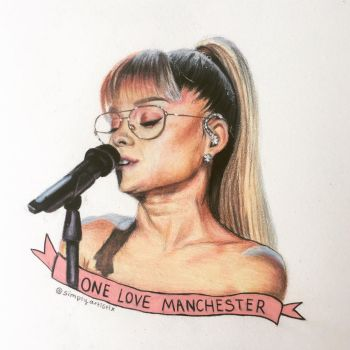 Alexisnicoleartt 7 2 ariana grande drawing by simplyartistix