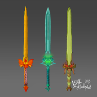 Sword concepts by Isli