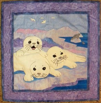 Harp Seal Quilt by LMColver