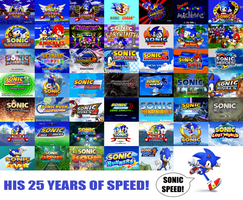 Sonic the Hedgehog Blasting Through 25 Years by ClariceElizabeth