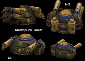 Steampunk Turret by KidneyShake