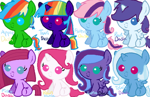 Rainbow Dash Shipping Adoptables by memeoverlord