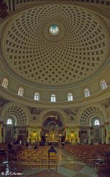 Inside Rotunda of Mosta by Sockrattes