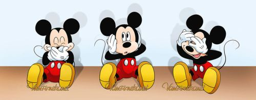 Three Wise Mickey by Vampirneko