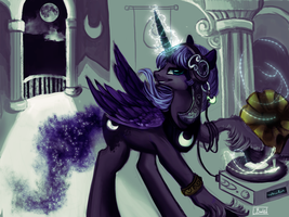 ElectroSwing shall be your new doom. by Trojan-Pony