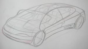 Car Design Presentation Sketch by Popgrafix