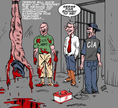 Torture is now legal in USA by Latuff2