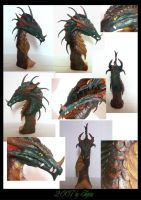 Green Dragon Sculpture by Sheranuva