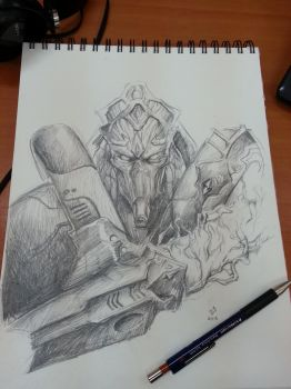 Zealot sketch by DHTenshi