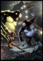 Vixen vs. Gorilla Grodd (Color) by TFGuillen