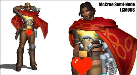 [MMD DL] OVERWATCH : McCree Semi-Nude Version 2016 by LGMODS