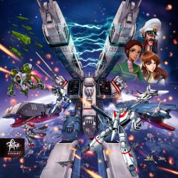 MACROSS_Attack on SDF1 by FranciscoETCHART