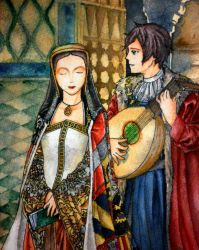 Spain and his Queen by hanakoofthejungle