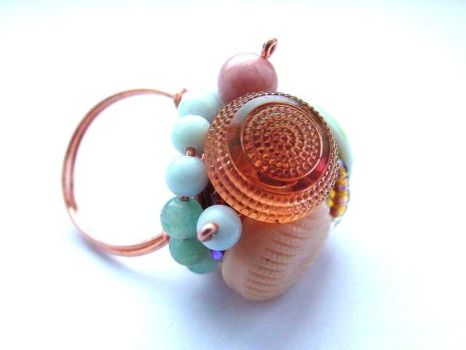 Posies at Teatime ring by sojourncuriosities