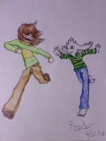 Undertale - Siblings of a different kind by Randombushgirl