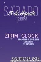 Zirim Clock 12 hours - horas Reloj Rainmeter by LiaxmmyArt