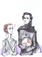 Rey and Kylo ren by nightwish77